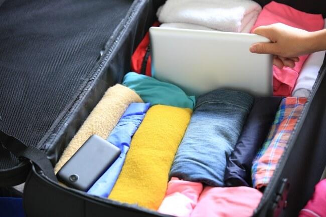 Kıyafet toplama bavul