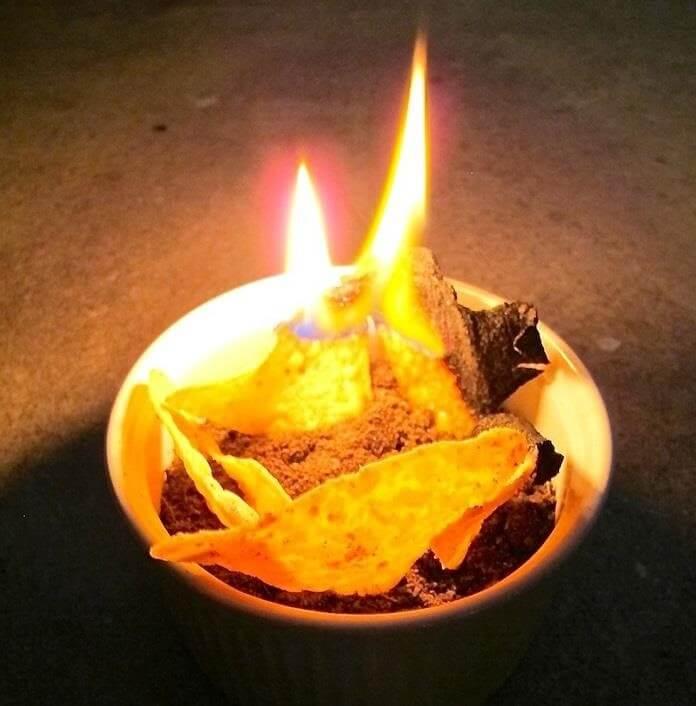 Patates cipsi ateş yakmak